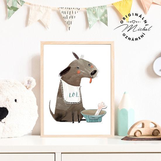 Plakát veselý pejsek hafík