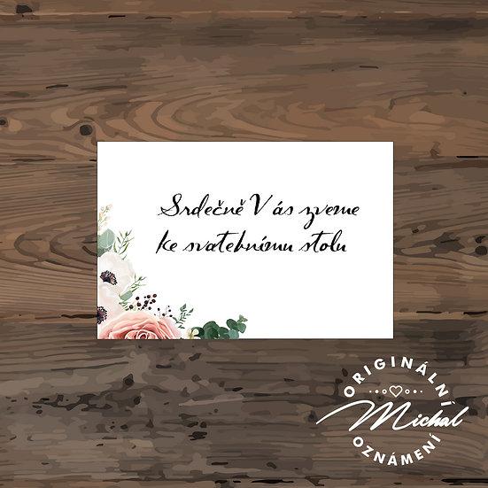 Pozvánka ke svatebnímu stolu - TYP 63