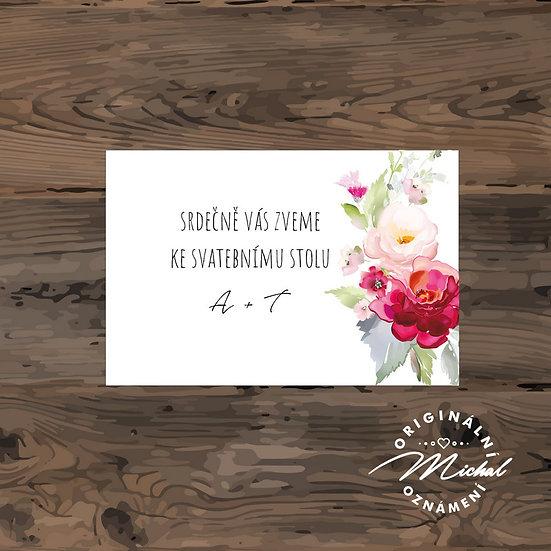 Pozvánka ke svatebnímu stolu - TYP 232
