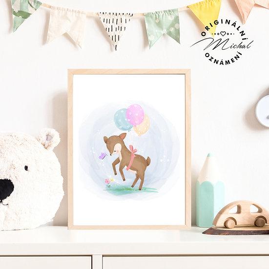 Plakát Srnečka miminko