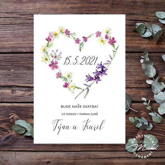 Svatební oznámení - TYP 327