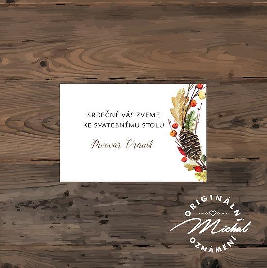 Pozvánka ke svatebnímu stolu - TYP 167