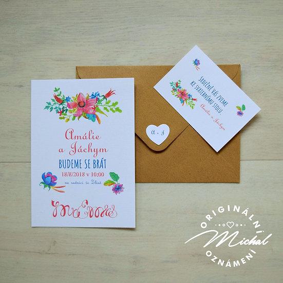 Pozvánka ke svatebnímu stolu - TYP 42
