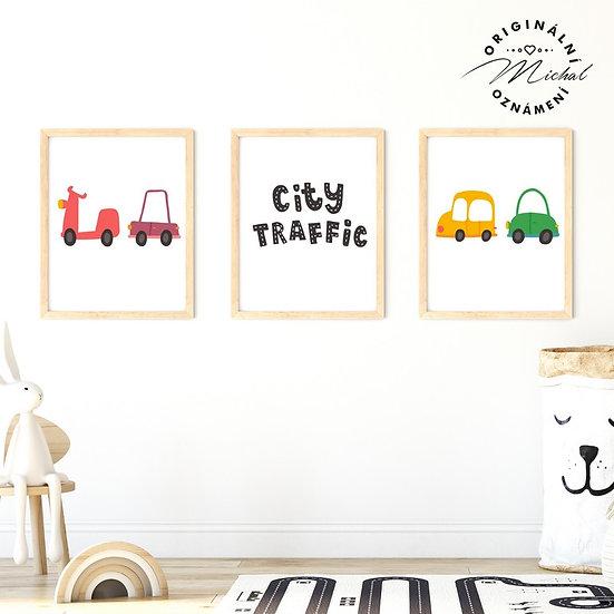 Plakát set dopravní prostředky