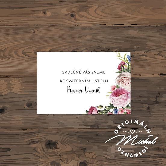Pozvánka ke svatebnímu stolu - TYP 150