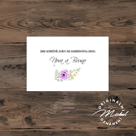 Pozvánka ke svatebnímu stolu - TYP 244