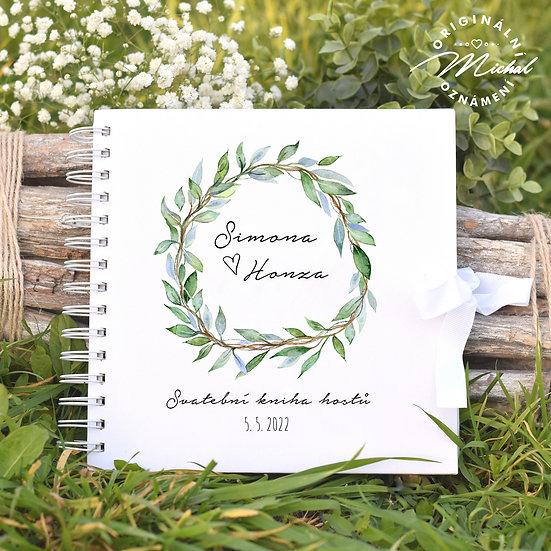 Svatební kniha hostů v pevných knižních deskách - 6