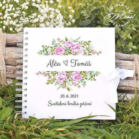 Svatební kniha hostů v pevných knižních deskách - 73