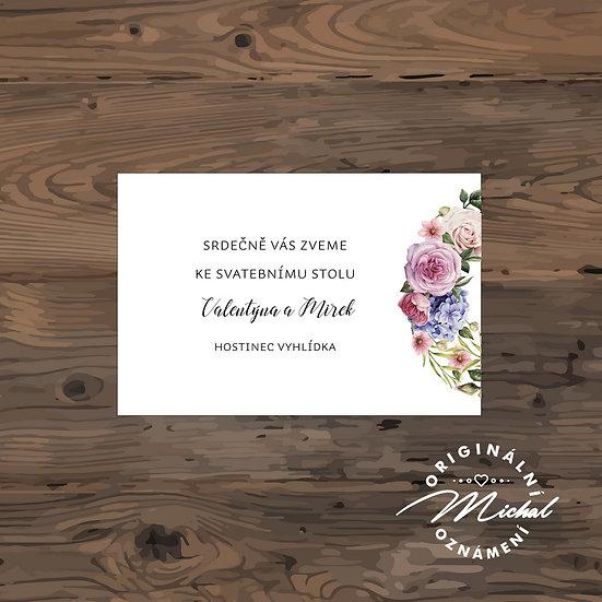 Pozvánka ke svatebnímu stolu - TYP 147