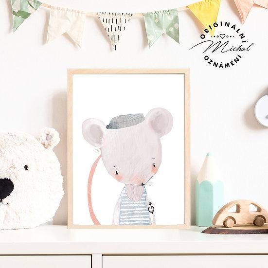 Plakát myška Námořník