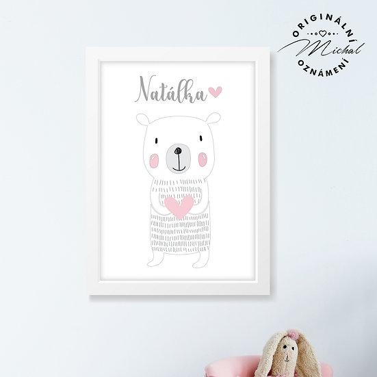 Lední medvídek SE JMÉNEM NA PŘÁNÍ - plakát