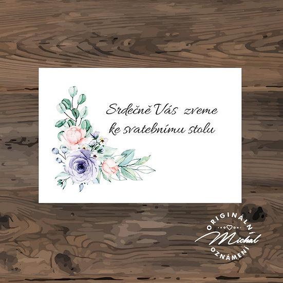 Pozvánka ke svatebnímu stolu - TYP 318