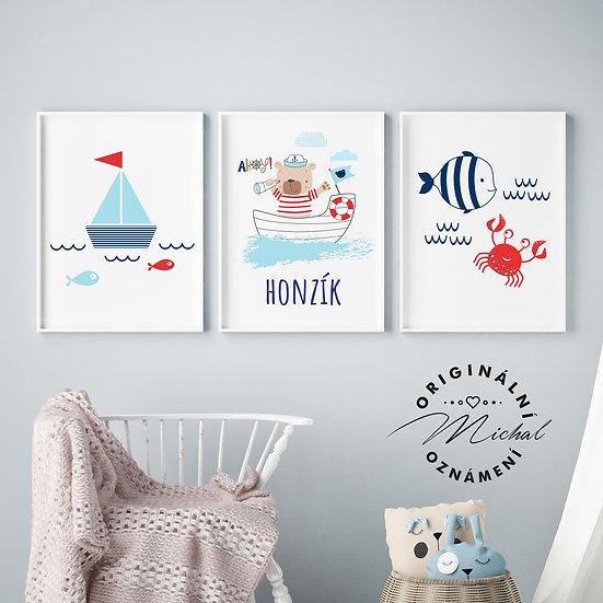 Medvídek dobrodruh set – plakáty
