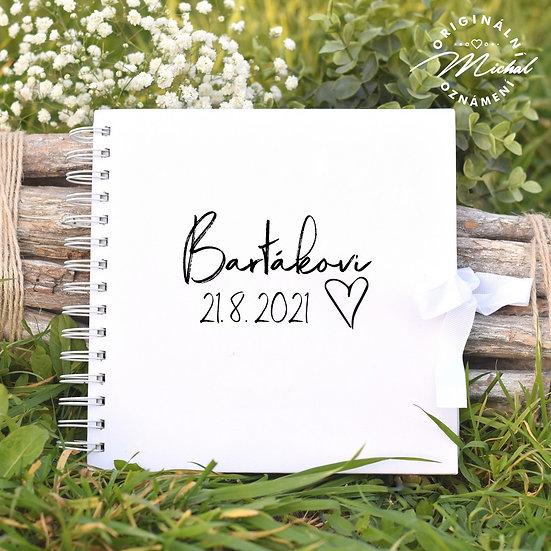 Svatební kniha hostů v pevných knižních deskách - 65