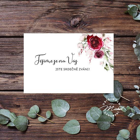 Pozvánka ke svatebnímu stolu - TYP 340