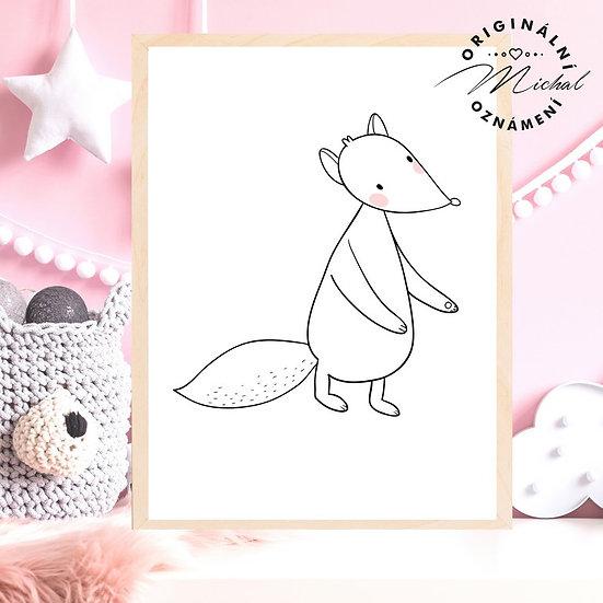 Plakát liška Pavla les