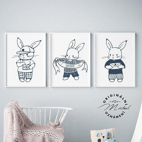 Zajíčkové set – plakáty