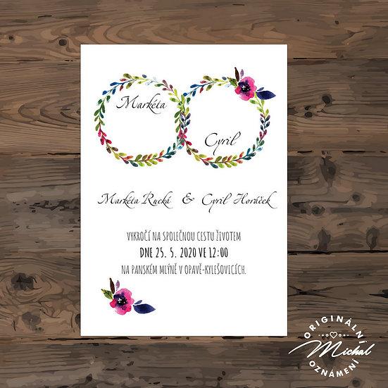 Svatební oznámení s květy
