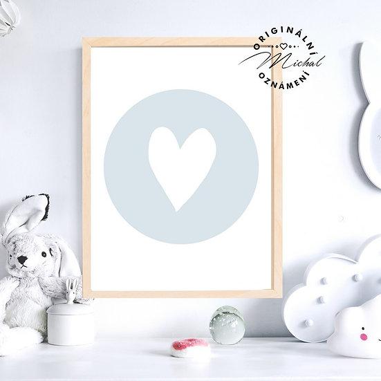 Plakát srdce kluk