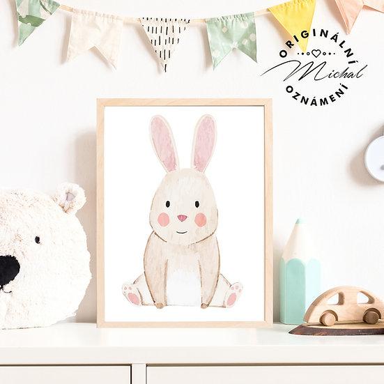 Plakát roztomilý zajíček