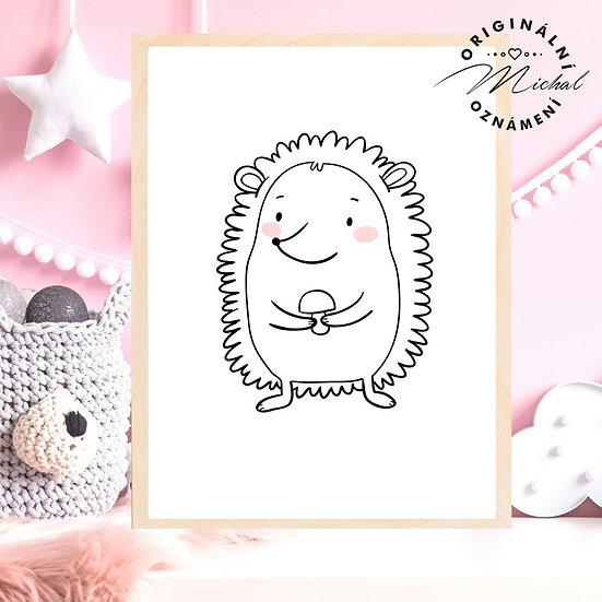Plakát ježeček hříbeček ježek