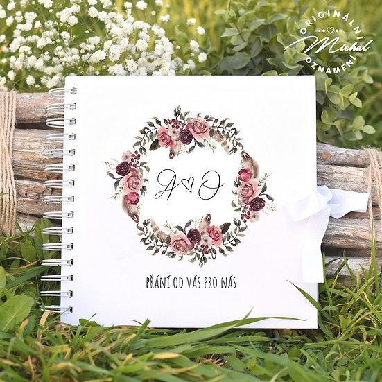 Svatební kniha hostů v pevných knižních deskách - 24