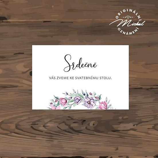 Pozvánka ke svatebnímu stolu - TYP 321