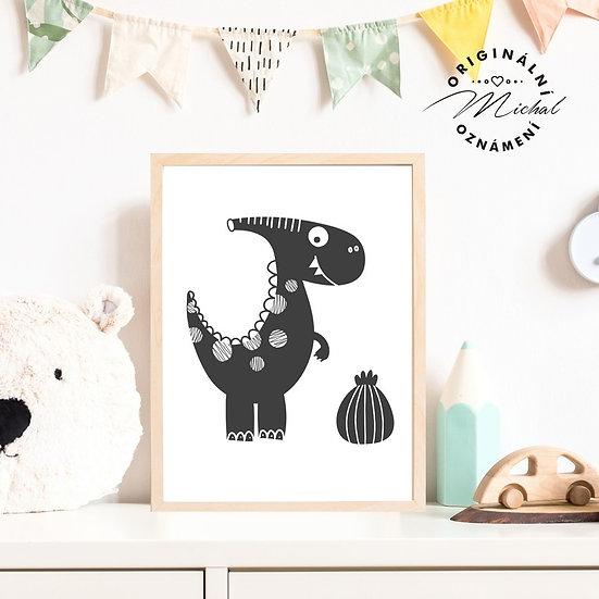 Plakát dinosaurus diník 4 pro kluky