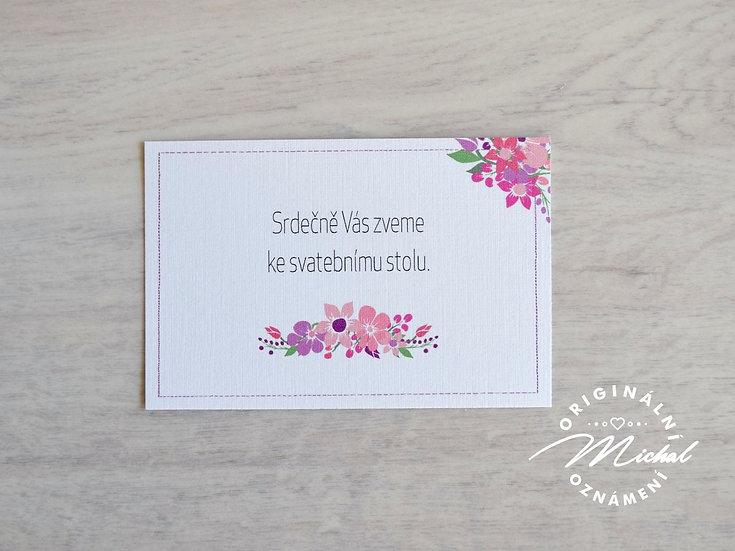 Pozvánka ke svatebnímu stolu - TYP 23