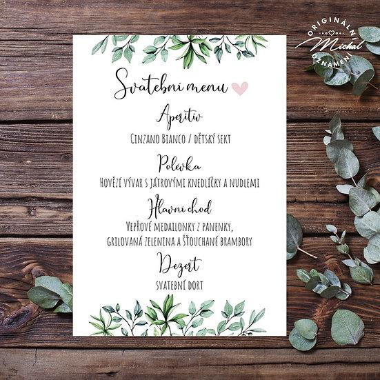 Svatební menu - TYP M09
