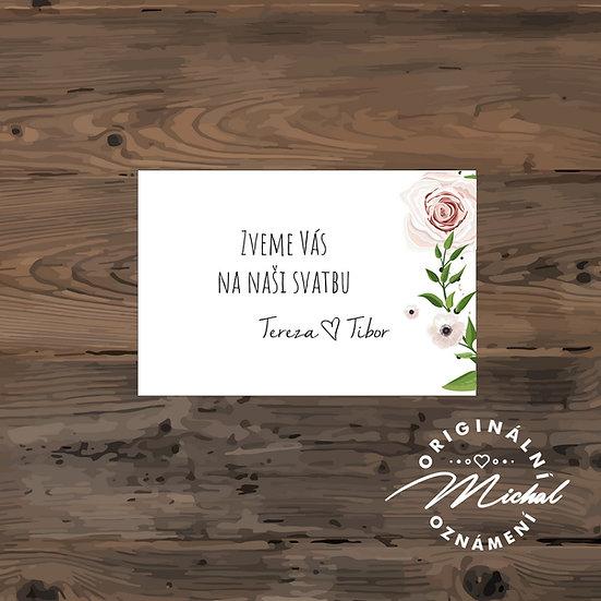 Pozvánka ke svatebnímu stolu - TYP 128