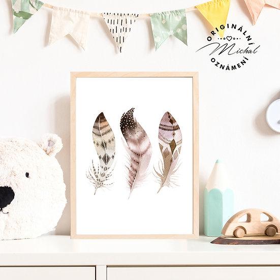 Plakát pírka peříčka