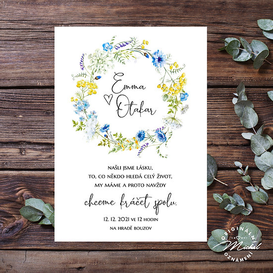 Svatební oznámení - TYP 337