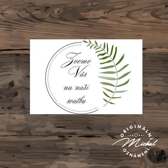 Pozvánka ke svatebnímu stolu - TYP 262