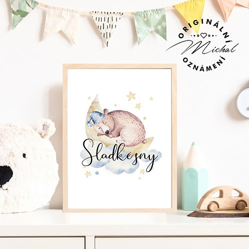 Plakátek medvídek sladké sny