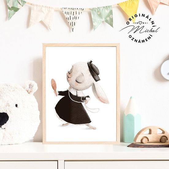 Plakát slečna zajíčková