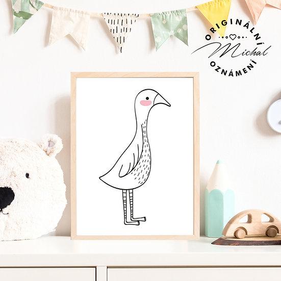 Plakát ptáček 2