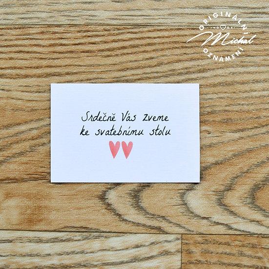 Pozvánka ke svatebnímu stolu - TYP 39