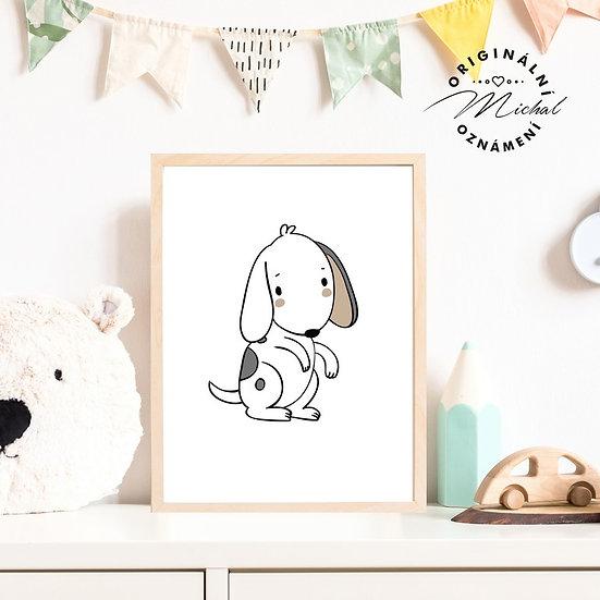 Plakát roztomilý pejsek