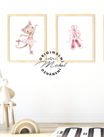 Plakát set kočička balerínky