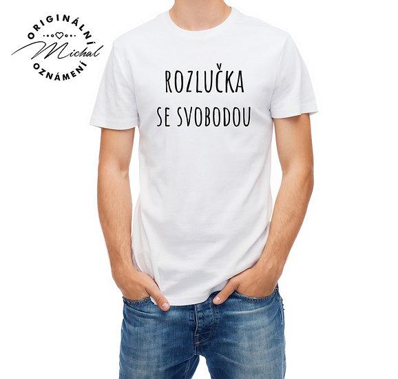 Pánské svatební tričko s potiskem - P10