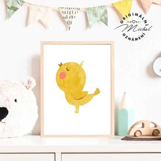 Plakát kuřátko Pepi