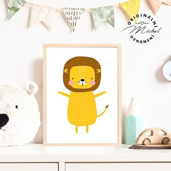 Plakát lev lvíček Bob