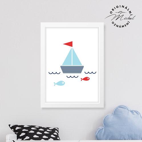 Lodička malého námořníka – plakát
