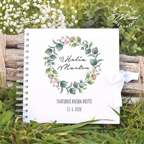 Svatební kniha hostů v pevných knižních deskách - 57