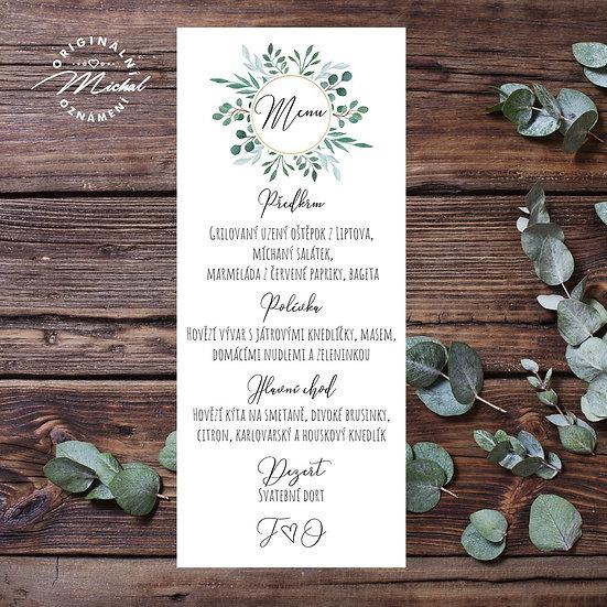 Svatební menu - TYP M08