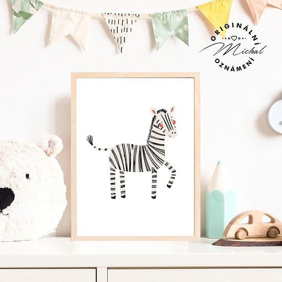 Plakát zebra Emilka