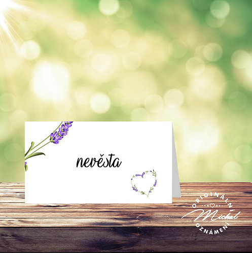 Svatební jmenovka levandule