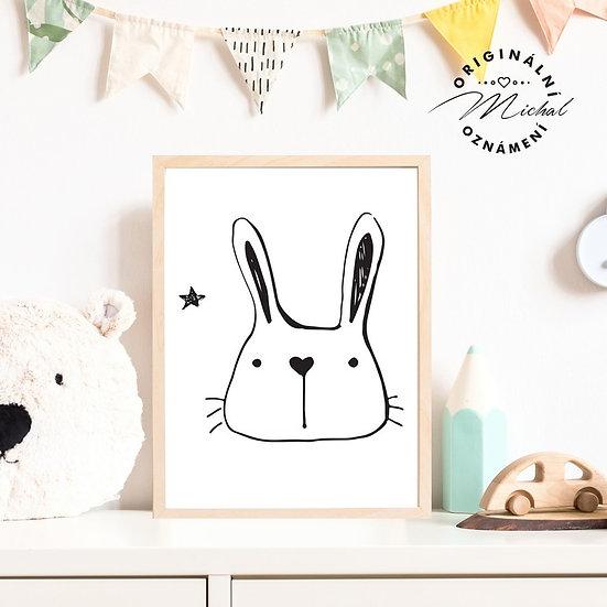 Plakát zajíček srdíčko