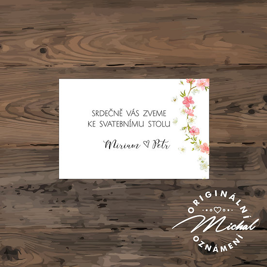 Pozvánka ke svatebnímu stolu - TYP 130